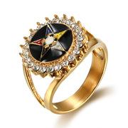 oes and freemason  real gold rings