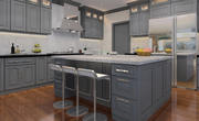 Gray Kitchen Cabinets by Four Less Cabinets